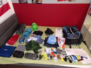 backpack worldtrip equipment
